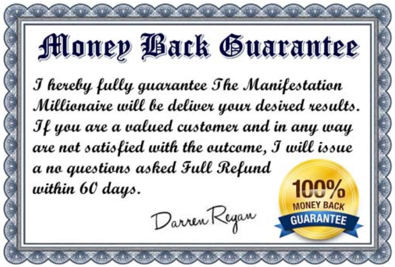 the manifestation millionaire review - 60 back money