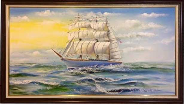 Painting about sailing boats